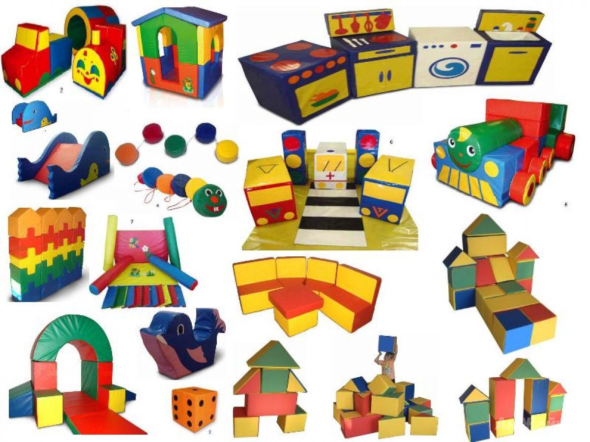 Мягкие игровые комнаты Мягкие модули для детских