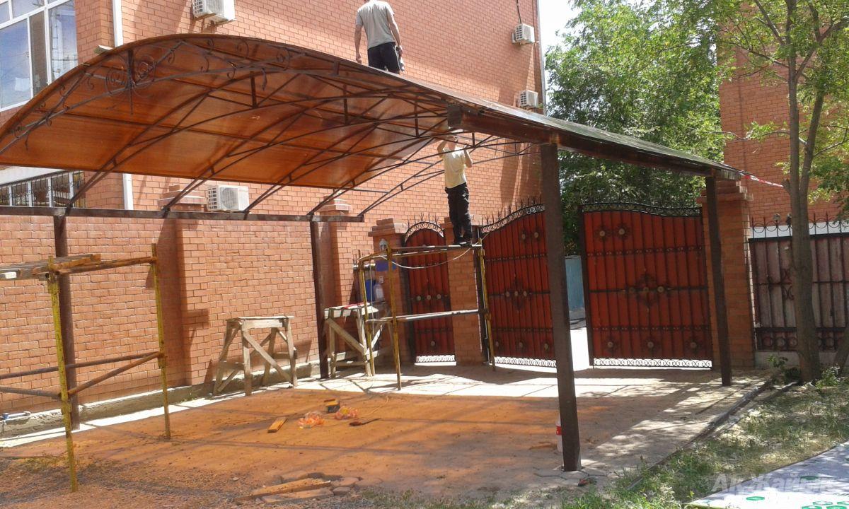 Крыша над воротами своими руками 35