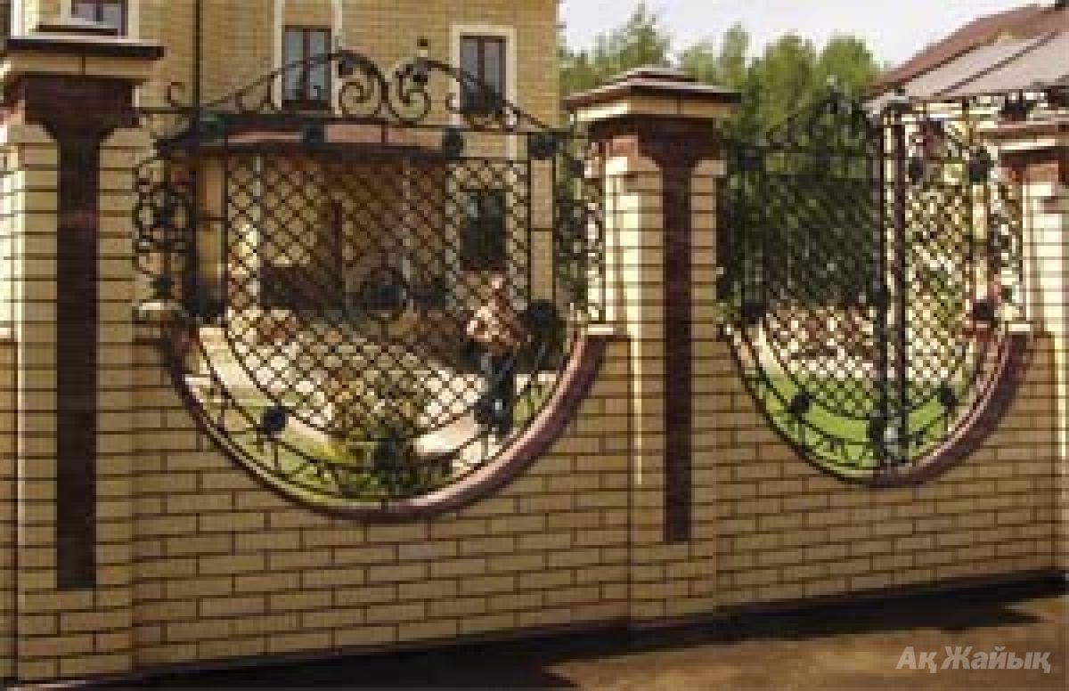 Дизайн забора для дома