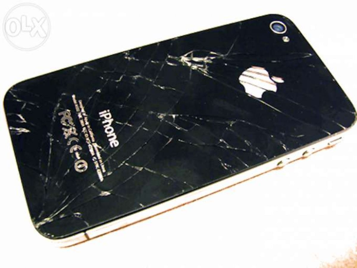 Cracked Glass Repair Iphone 4S Back