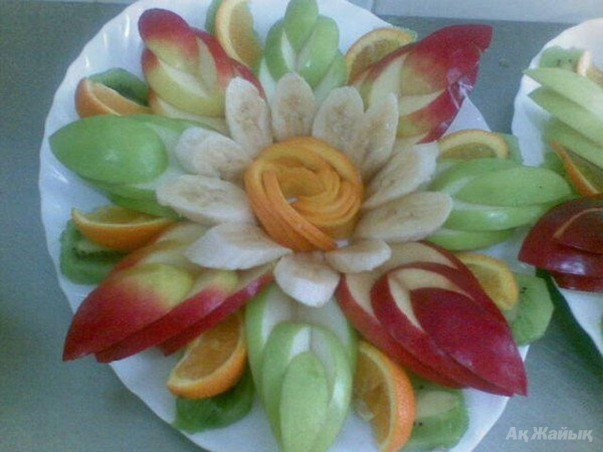 Как сделать красивую фруктовую нарезку в.домашних условиях
