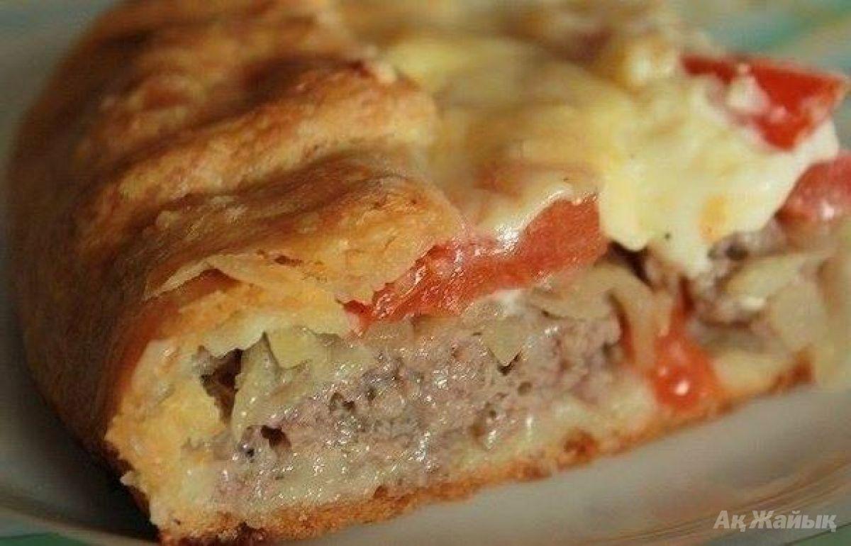 Рецепт открытого пирога с мясом с
