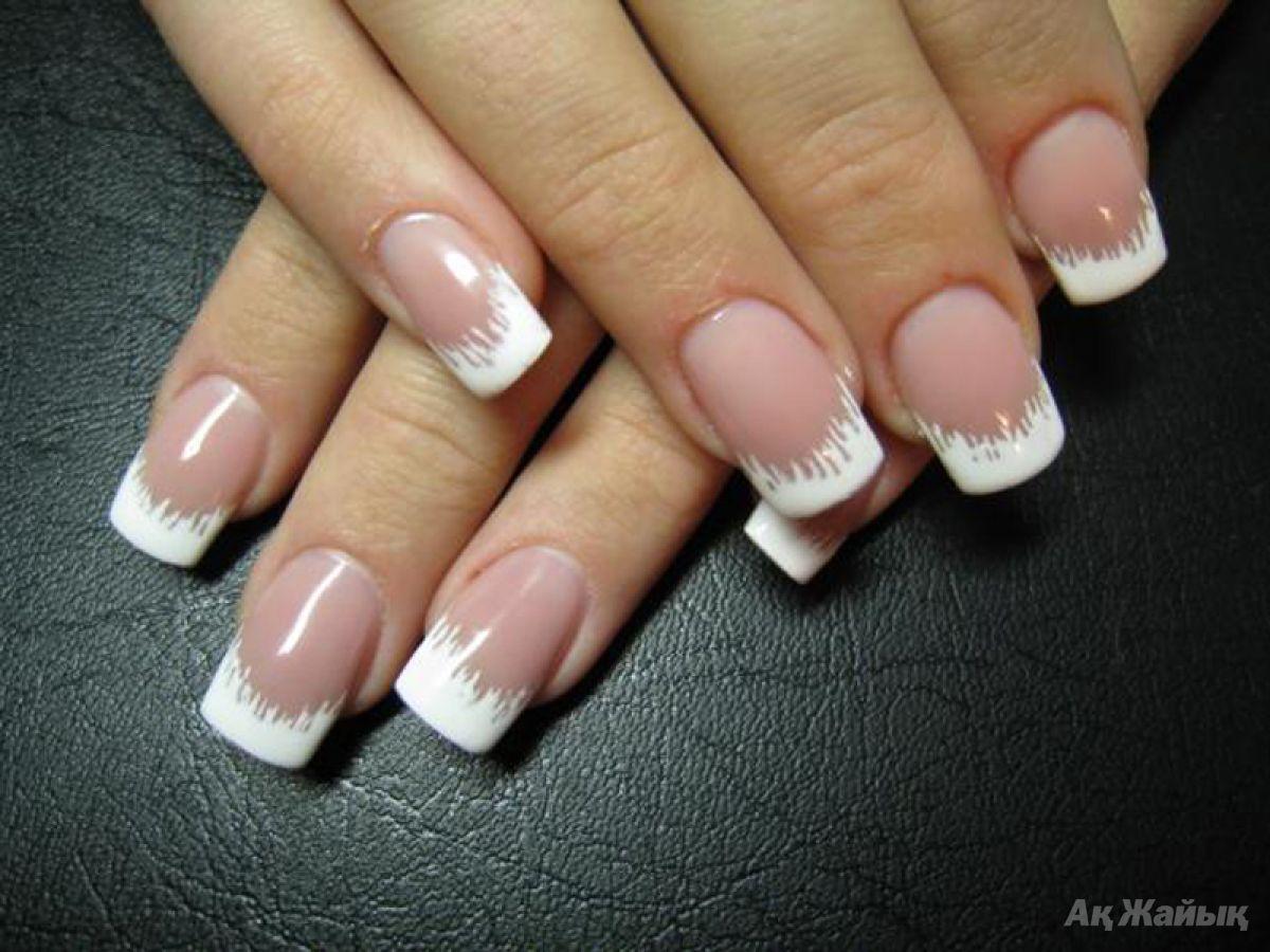 Простой дизайн ногтей на френче фото