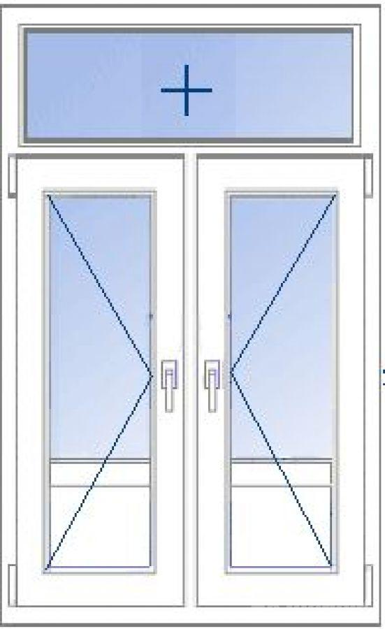 Двухстворчатые двери пластиковые балконные.