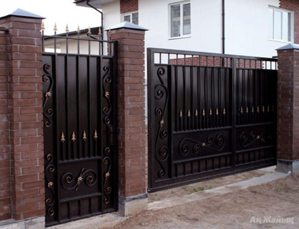Ворота из металла фото 4
