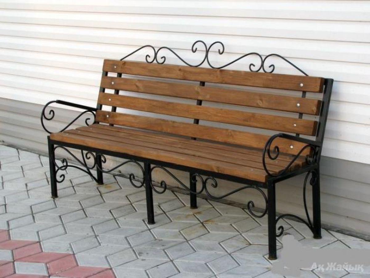 Скамейка своими руками фото из металла 5