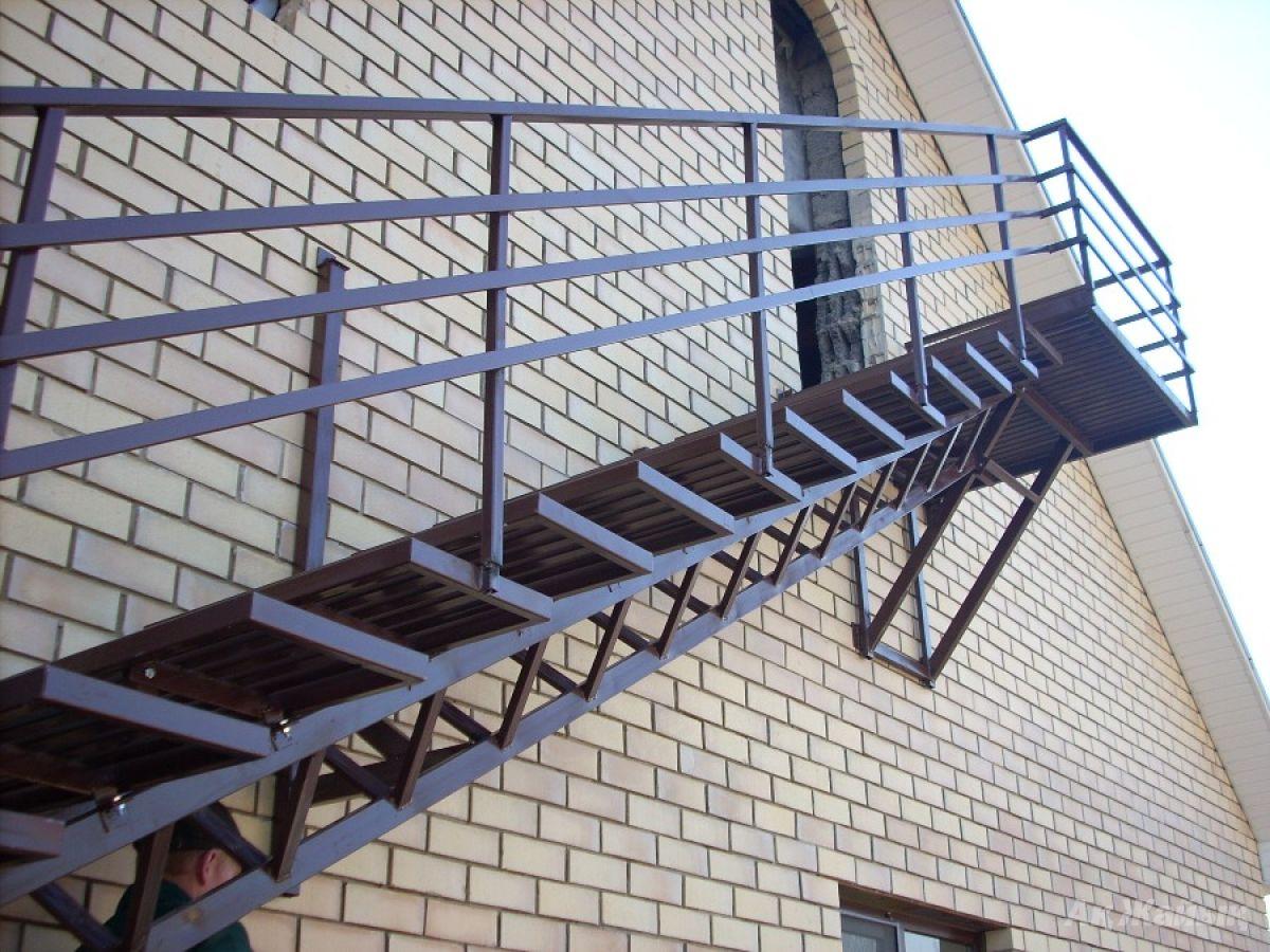 Пожарные лестницы (наружные) в санкт-петербурге - пк подъем.