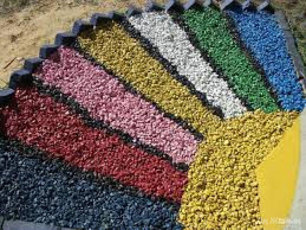 Как сделать цветной щебень