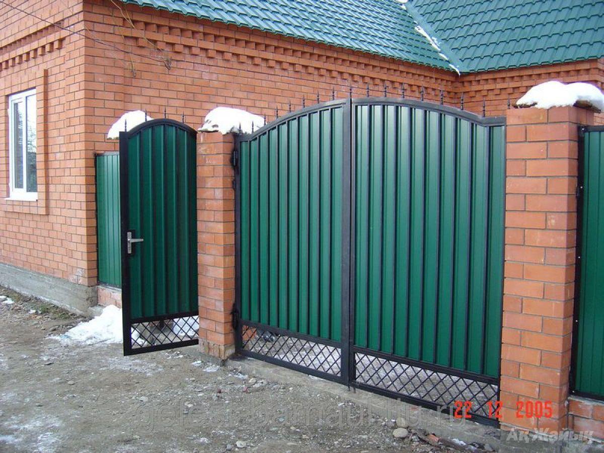 Фото калиток и ворот из профлиста своими руками